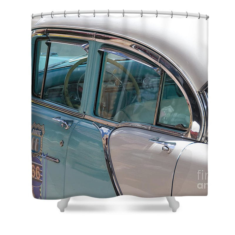 Classic Car Shower Curtain featuring the photograph Classic by Milena Boeva