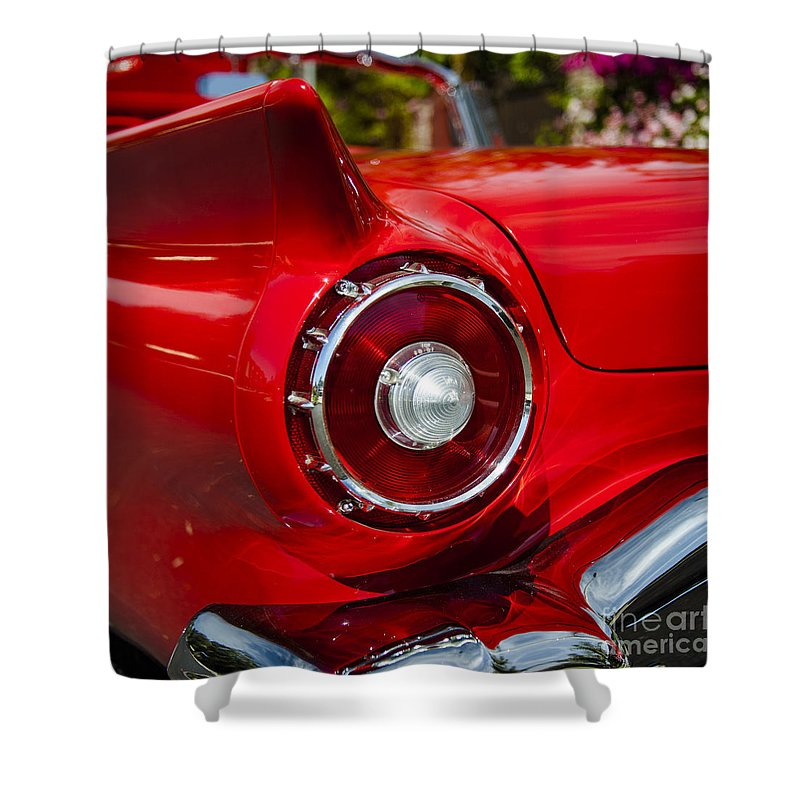 1957 Ford Thunderbird Car Photographs Photography Shower Curtain Featuring The Photograph Classic