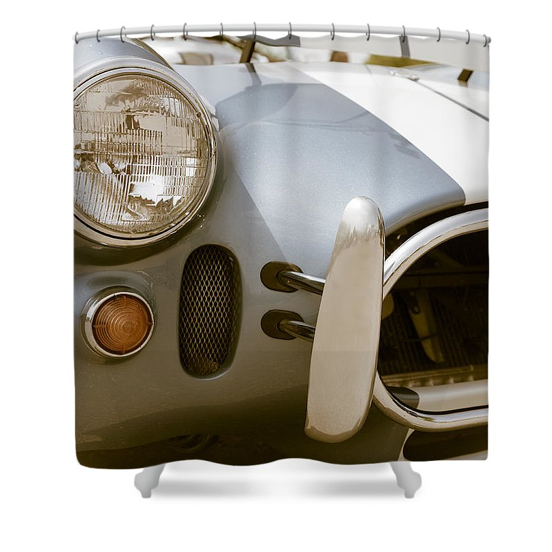 Sports Shower Curtain featuring the photograph Classic Sports Car by Alexey Stiop