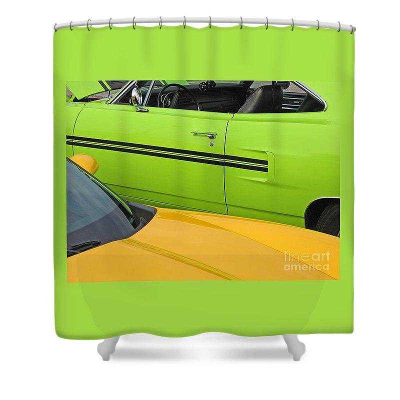 Car Shower Curtain featuring the photograph Classy Classics by Ann Horn