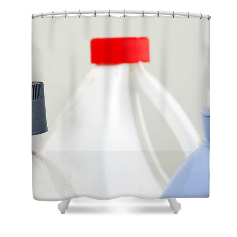 Alcohol Shower Curtain featuring the photograph Cleaning Products by Tim Hester