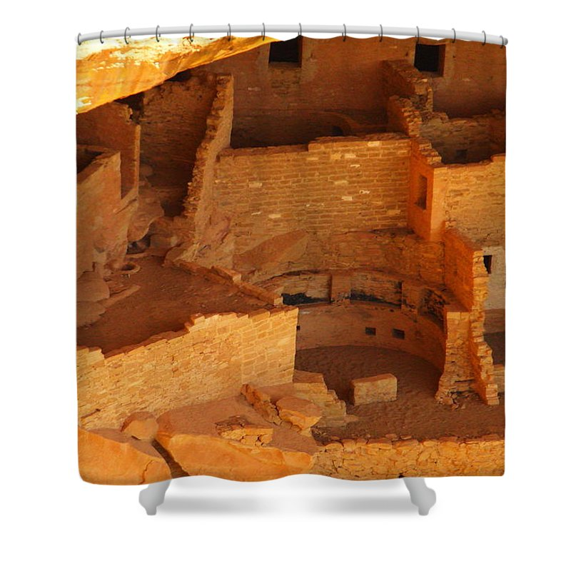 Ancient Ruins Shower Curtain featuring the photograph Cliff Dwellings by Jeff Swan