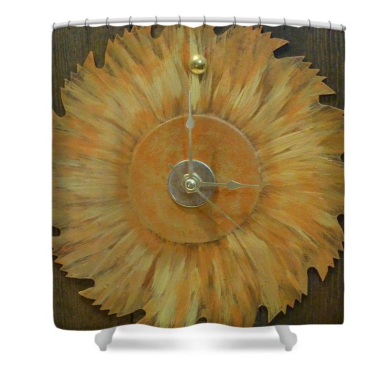 Clock Shower Curtain featuring the photograph Clock by Karen Capehart