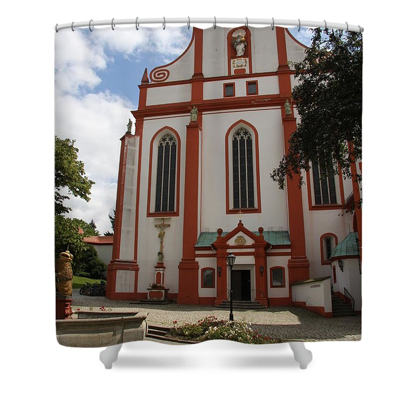 Cloister Shower Curtain featuring the photograph Cloister - St. Marienstern by Christiane Schulze Art And Photography