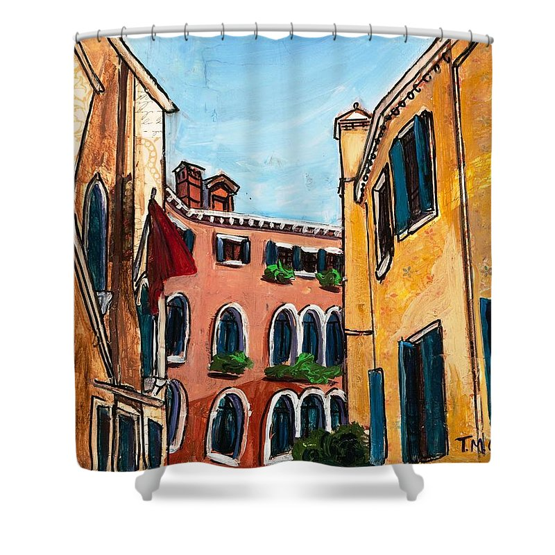 Tmgand Shower Curtain featuring the painting Close Quarters by TM Gand