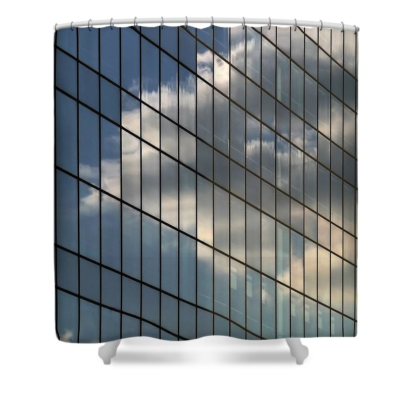 Abstract Shower Curtain featuring the photograph Cloud Captured by Zoran Berdjan