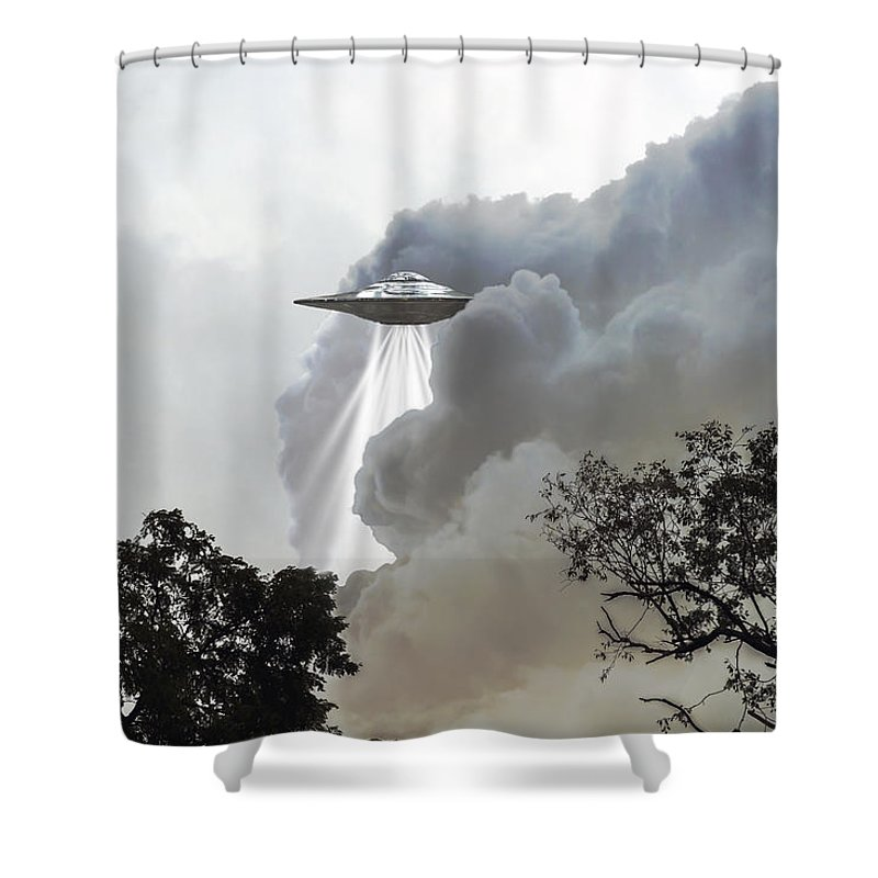 2d Shower Curtain featuring the photograph Cloud Cover by Brian Wallace