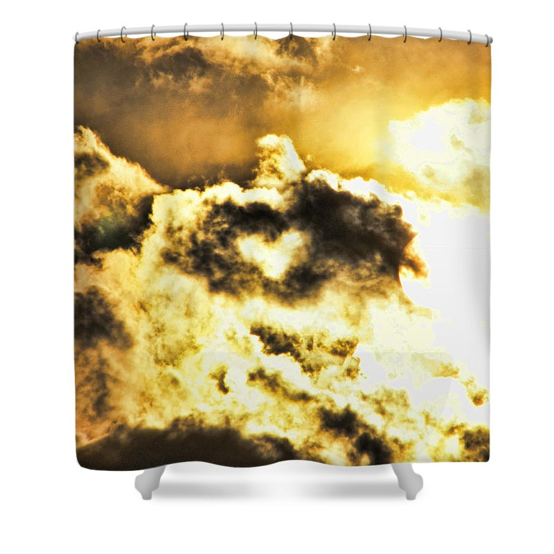 Cloud Shower Curtain featuring the photograph Cloud Of Love by Shannon Story