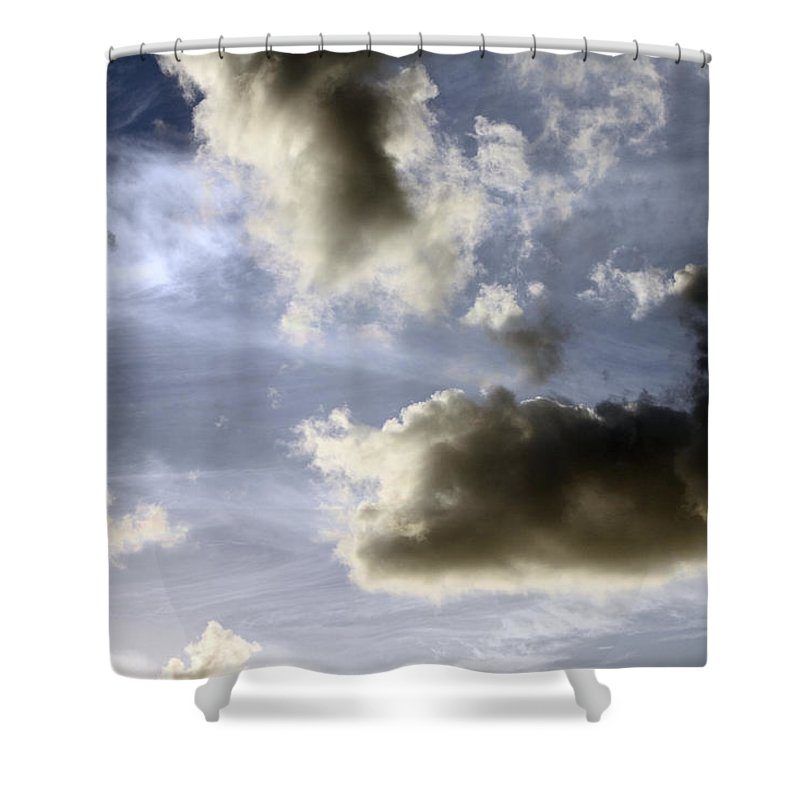 Sky Shower Curtain featuring the photograph Clouds 1 by Bob Slitzan