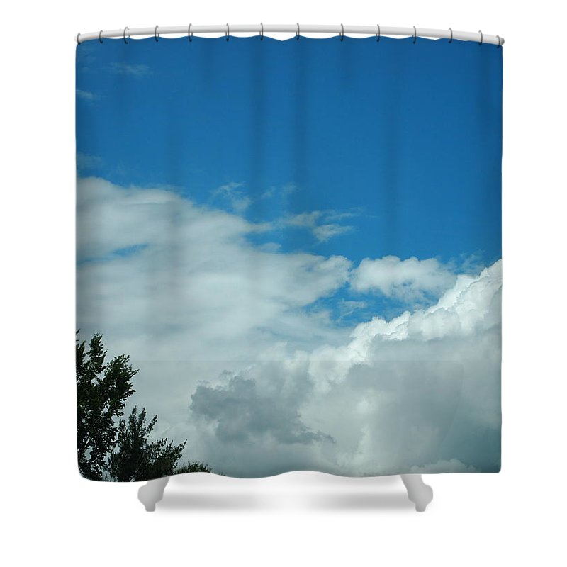 Clouds Shower Curtain featuring the photograph I Touched The Sky by Jill Rucker Simmons
