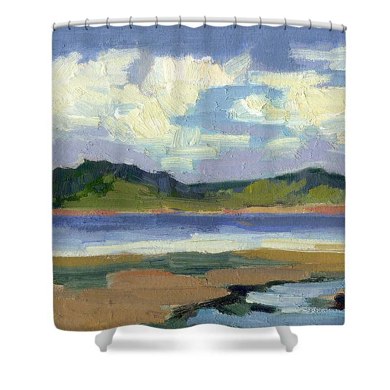 Clouds Shower Curtain featuring the painting Clouds At Vashon Island by Diane McClary