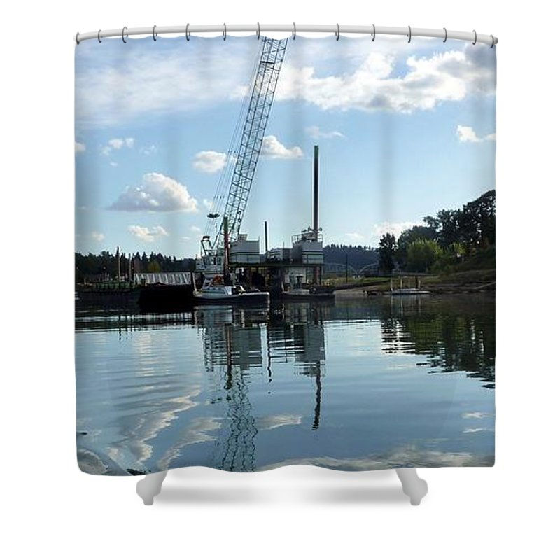 Clouds Shower Curtain featuring the photograph Clouds Ripple by Susan Garren