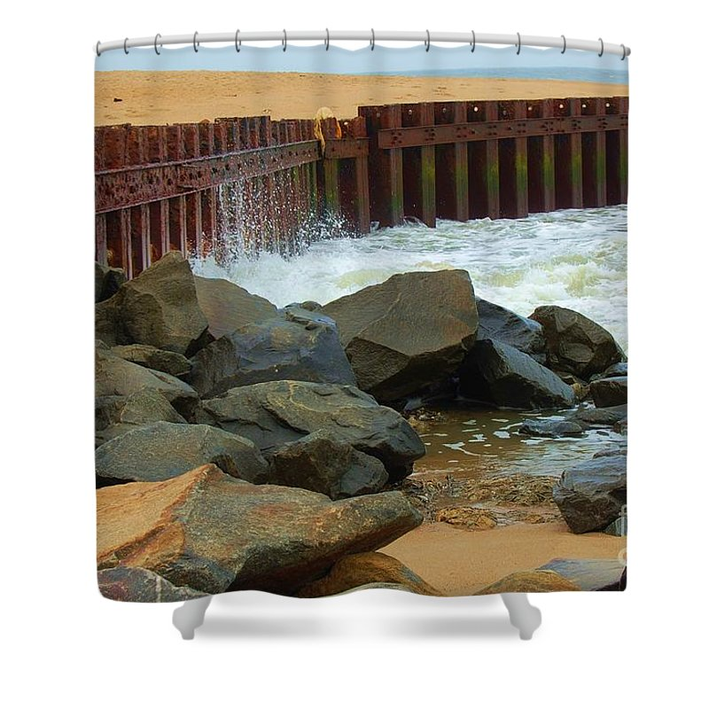 Water Shower Curtain featuring the photograph Coast Of Carolina by Debbi Granruth