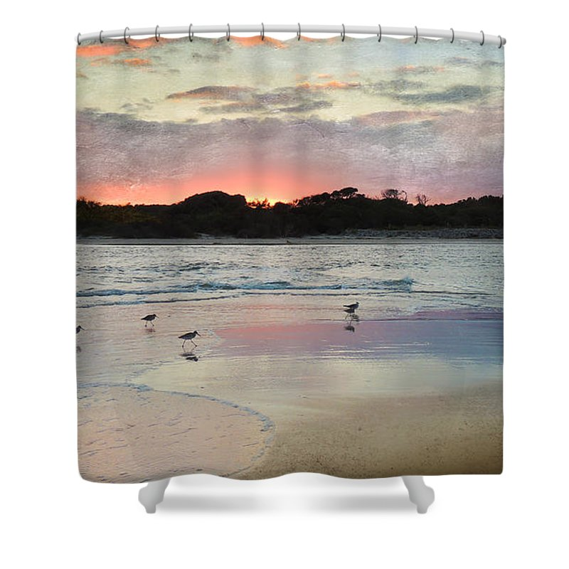 Myrtle Beach Shower Curtain featuring the photograph Coastal Beauty by Betty LaRue