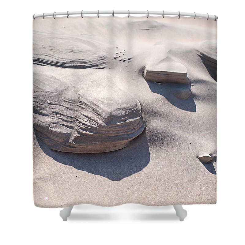 Sand Shower Curtain featuring the photograph Coastal Dunes In Holland 1. by Jenny Rainbow