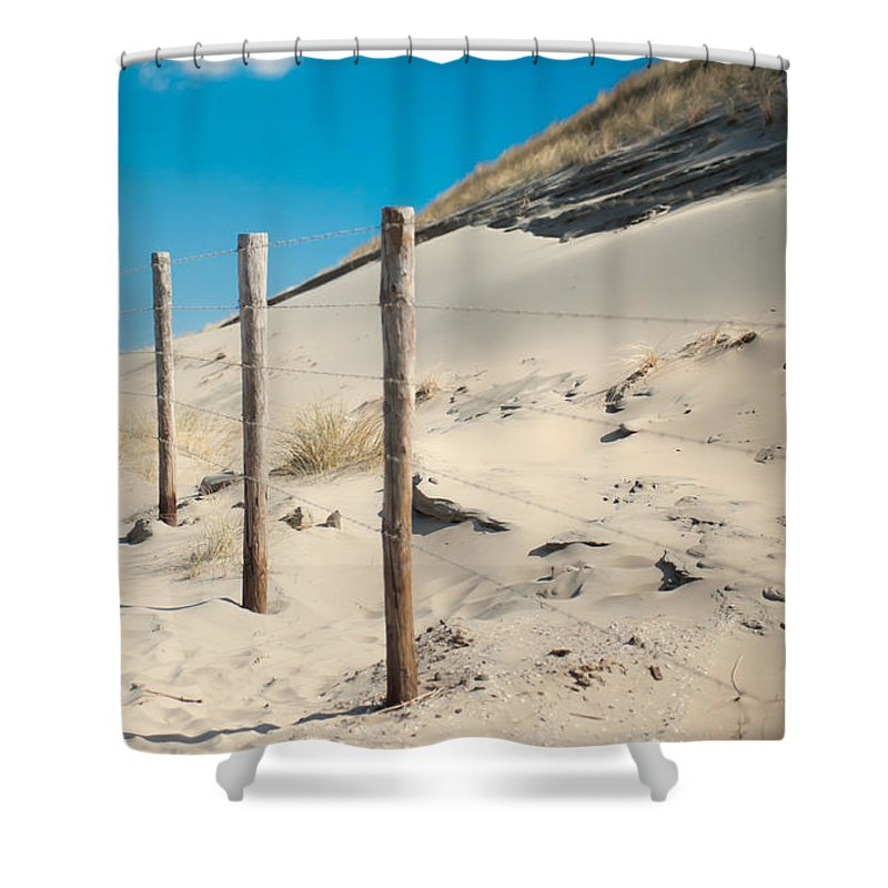 Ature Shower Curtain featuring the photograph Coastal Dunes In Holland 2 by Jenny Rainbow