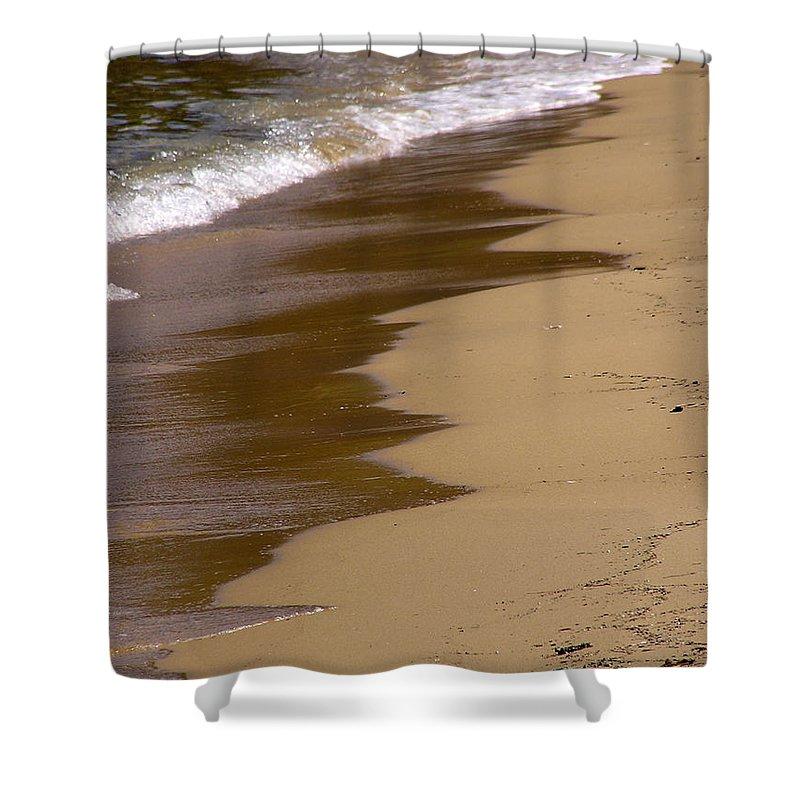 Sea Shower Curtain featuring the photograph Coastline by Zoran Berdjan