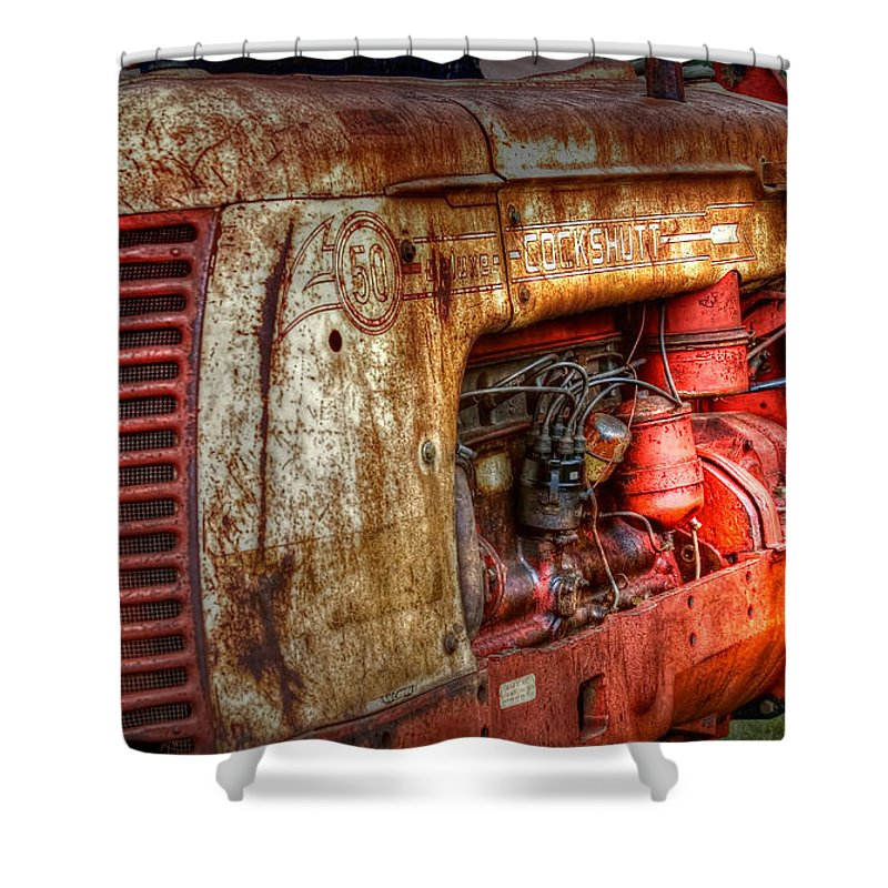 Tractor Shower Curtain featuring the photograph Cockshutt Tractor by Bill Wakeley