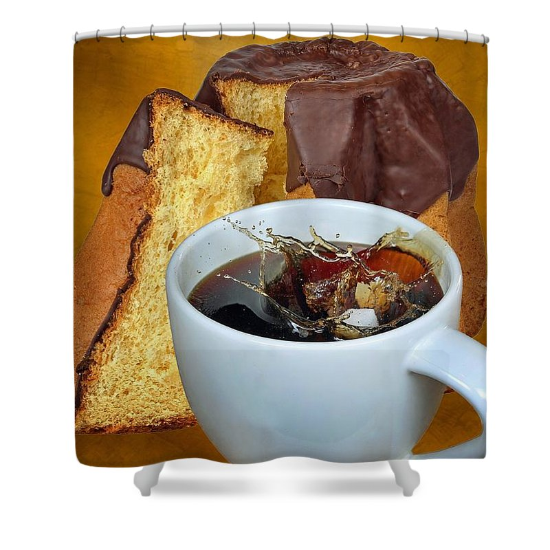 Coffee Shower Curtain featuring the photograph Coffee Break by Manfred Lutzius