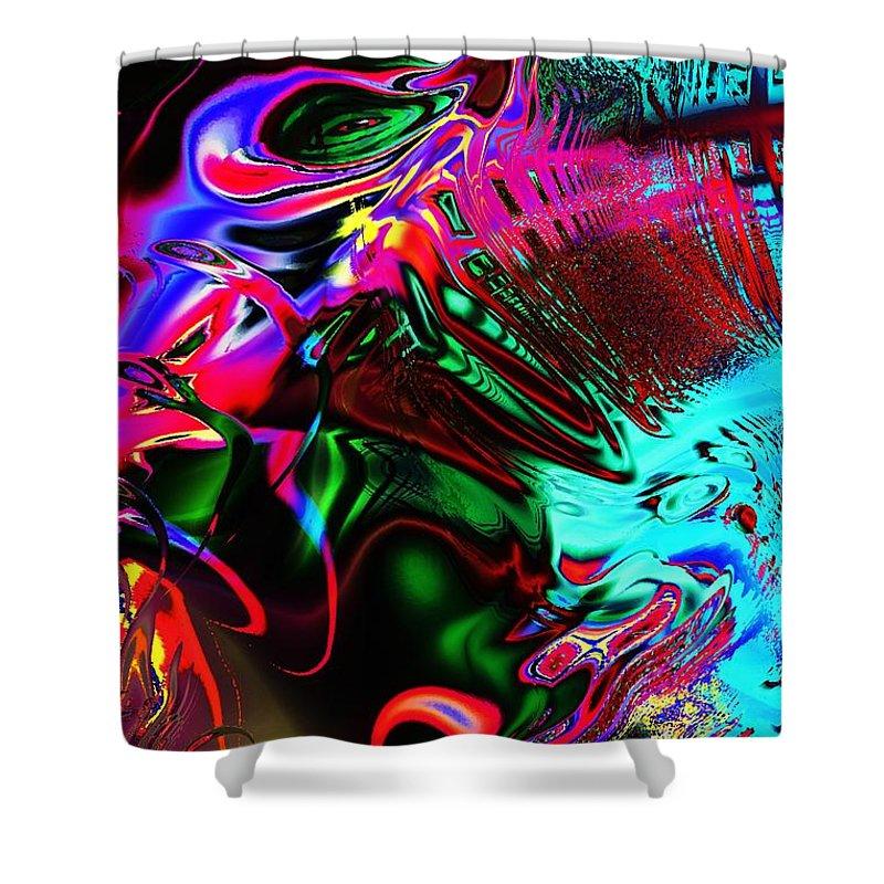 Computer Shower Curtain featuring the digital art Cognitive Breakdown by Anastasiya Malakhova