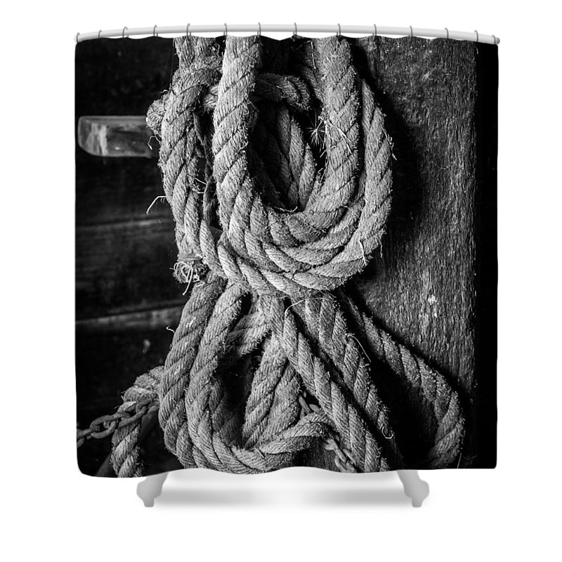 Rope Shower Curtain featuring the photograph Coiled by Kaleidoscopik Photography