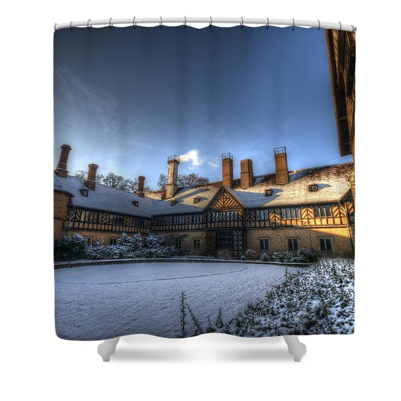 Background. Shower Curtain featuring the digital art Cold Hof by Nathan Wright