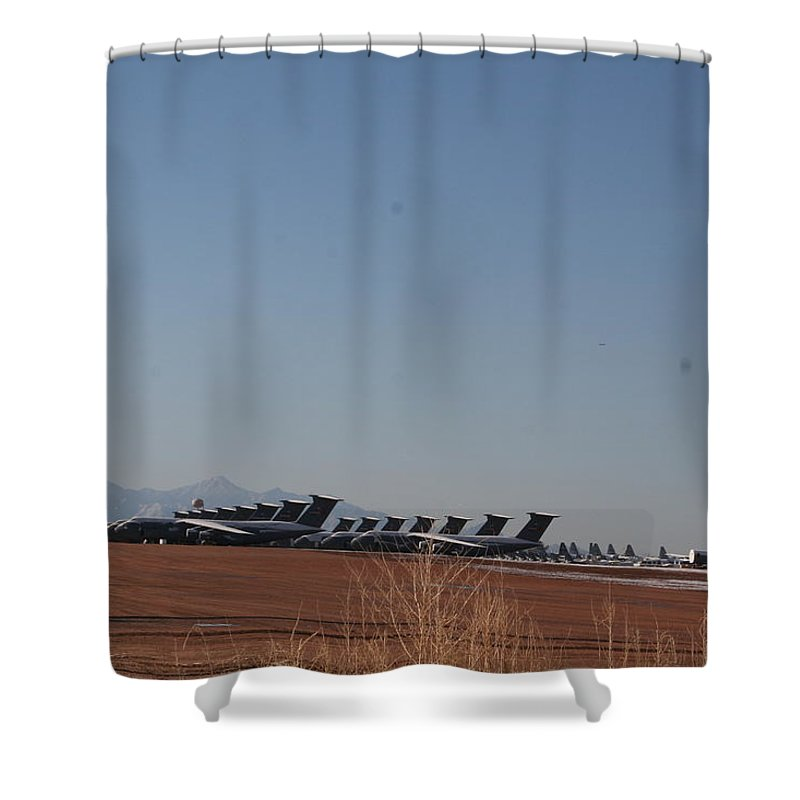 Air Force Shower Curtain featuring the photograph Cold Storage by David S Reynolds