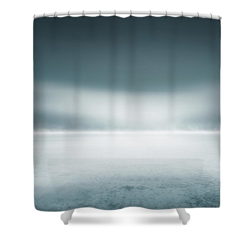 Tranquility Shower Curtain featuring the digital art Cold Studio Background by Aaron Foster