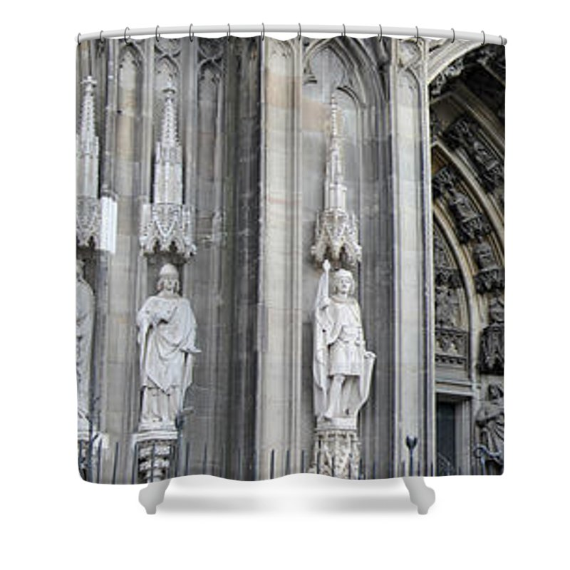 2014 Shower Curtain featuring the photograph Cologne Cathedral South Side Detail 2 by Teresa Mucha