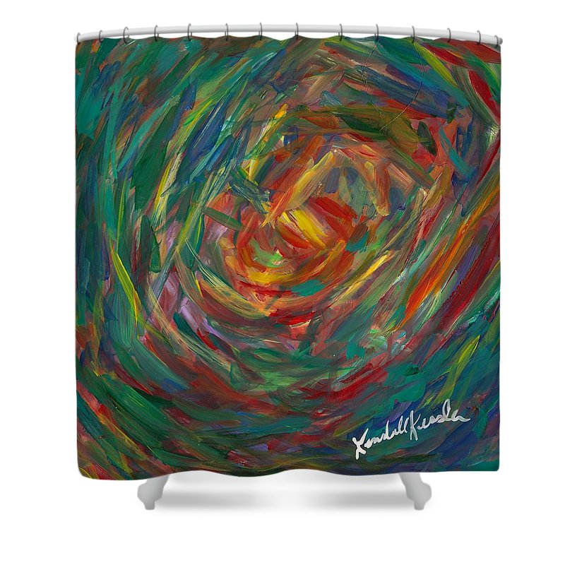 Center Of My Mind Shower Curtain featuring the painting Color Circle by Kendall Kessler