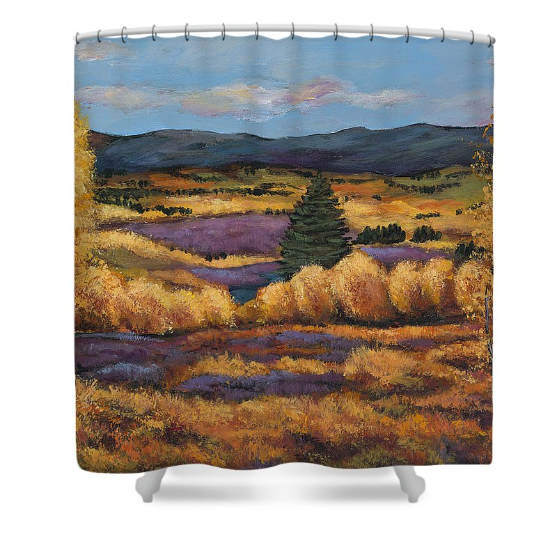 Autumn Aspen Shower Curtain featuring the painting Colorado by Johnathan Harris