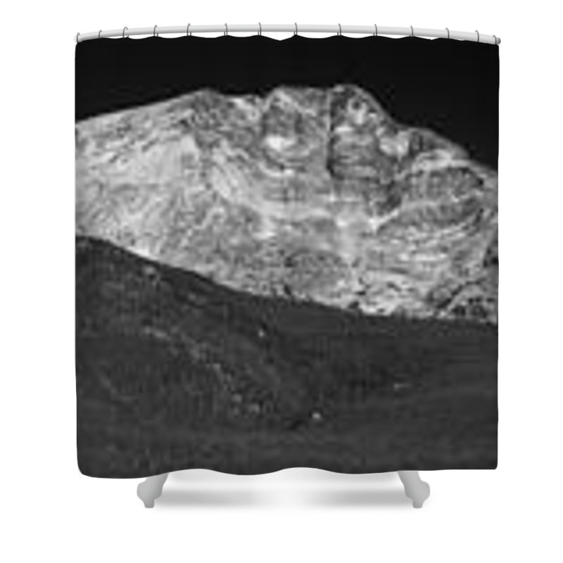 2012 Shower Curtain featuring the photograph Colorado Mummy Range by Josh Baker