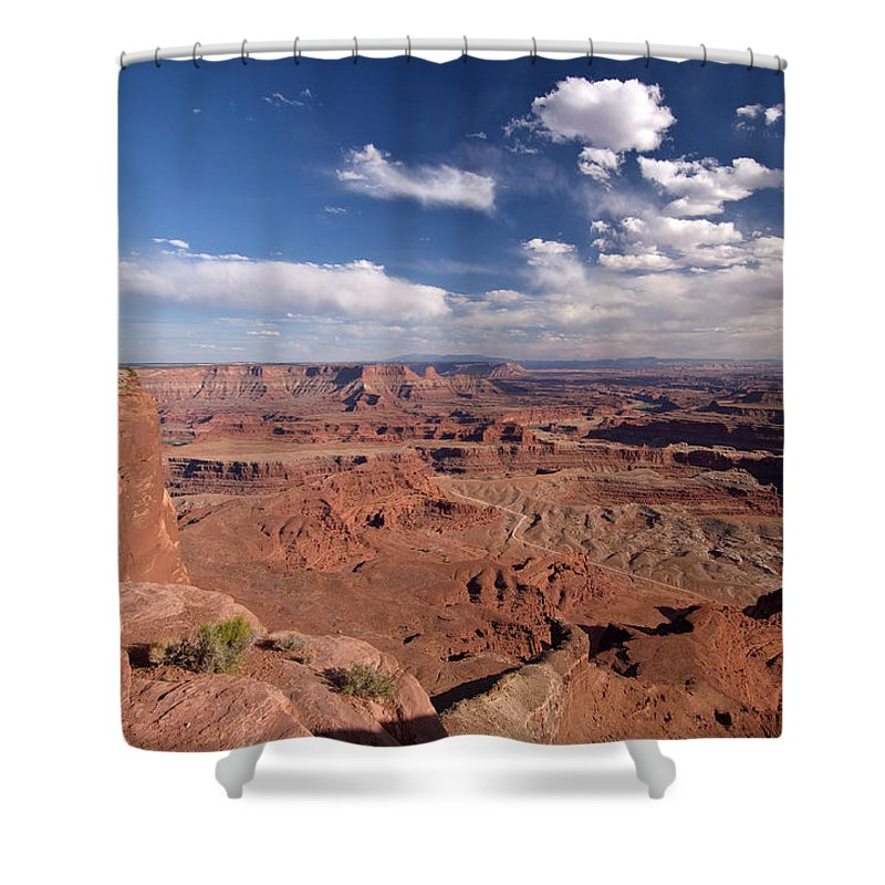 Scenics Shower Curtain featuring the photograph Colorado River Canyon From Dead Horse by John Elk