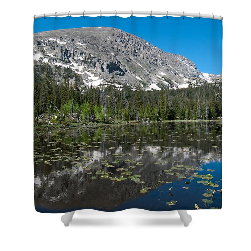 Colorado Shower Curtain featuring the photograph Colorado Wild Basin Landscape by Cascade Colors