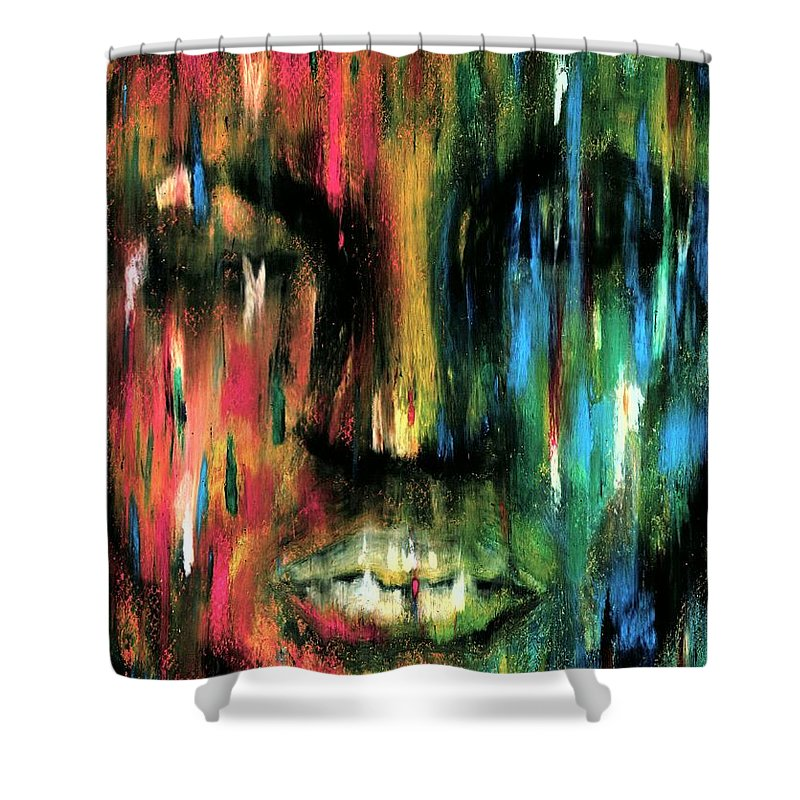 Colorful Shower Curtain featuring the photograph Colorblind by Artist RiA
