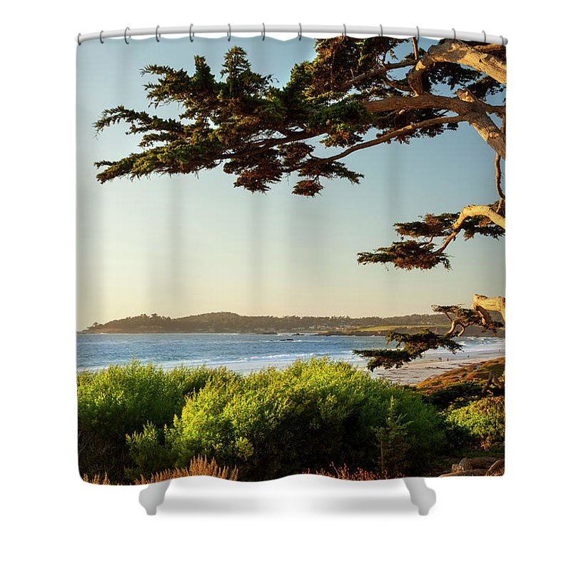 Scenics Shower Curtain featuring the photograph Colorful Beachfront In Carmel-by-the-sea by Pgiam