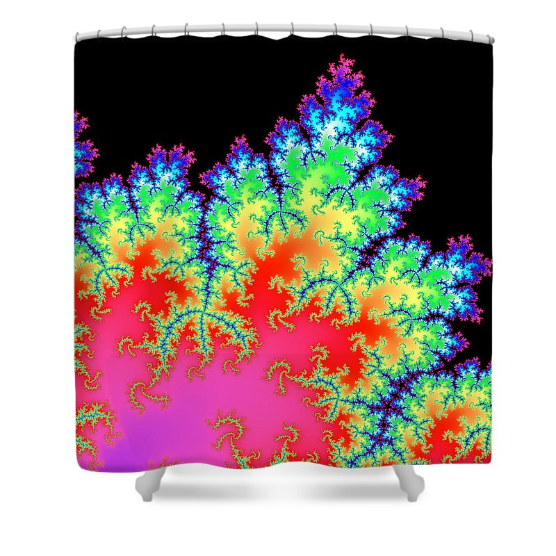 Fractal Shower Curtain featuring the digital art Colorful Fractal Artwork by Matthias Hauser