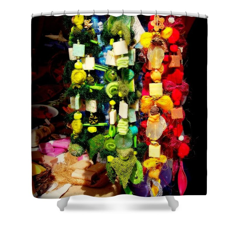 Rightfromtheart Shower Curtain featuring the photograph Prism by Bob and Kathy Frank