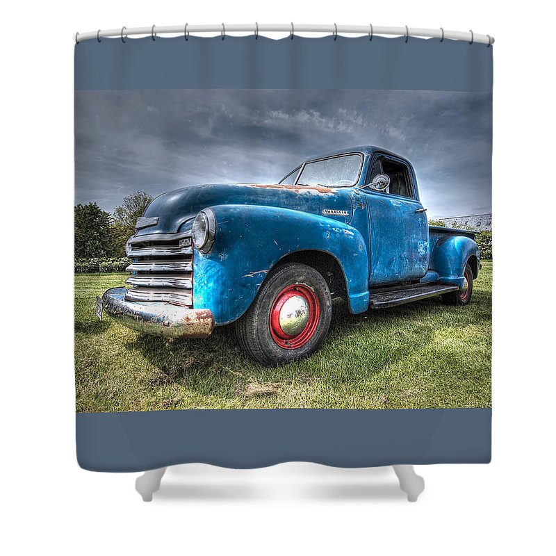 Colorful Workhorse - 1953 Chevy Truck Shower Curtain