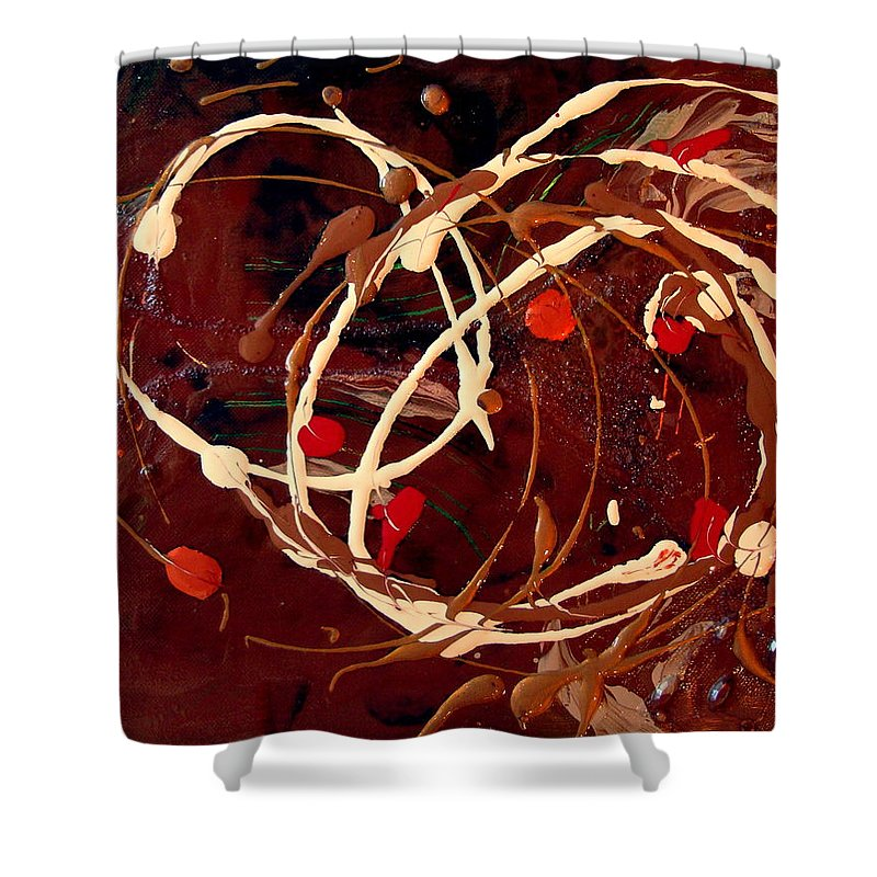 Autumn Shower Curtain featuring the painting Colors Of Autumn by Holly Picano