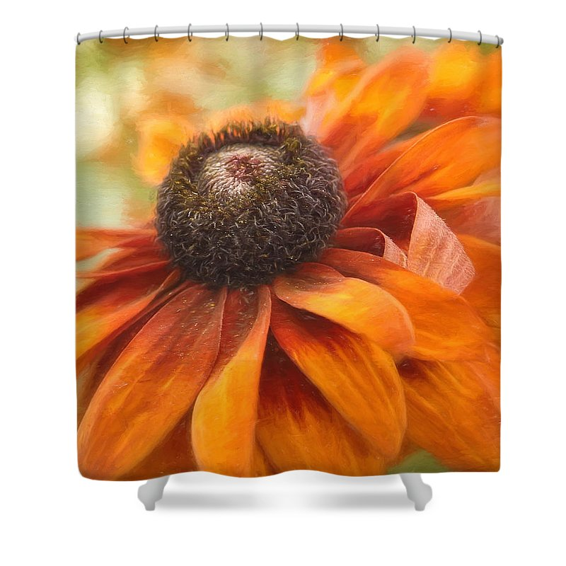 Orange Flower Shower Curtain featuring the photograph Colors Of Autumn by Kim Hojnacki