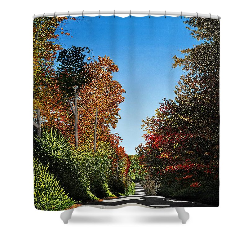 Autumn Shower Curtain featuring the painting Colours Of Caledon by Kenneth M Kirsch