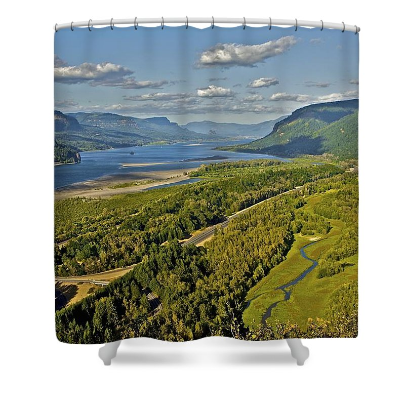 Columbia River Gorge Shower Curtain featuring the photograph Columbia Gorge by SC Heffner
