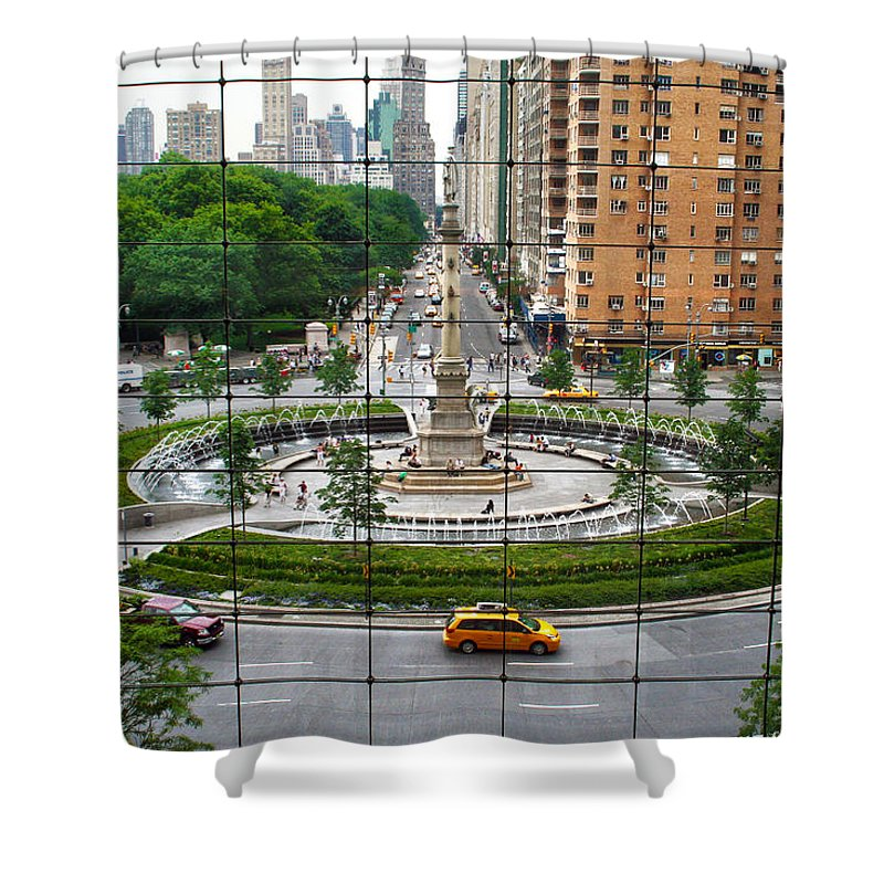 Nyc Shower Curtain featuring the photograph Columbus Circle by Mitch Cat