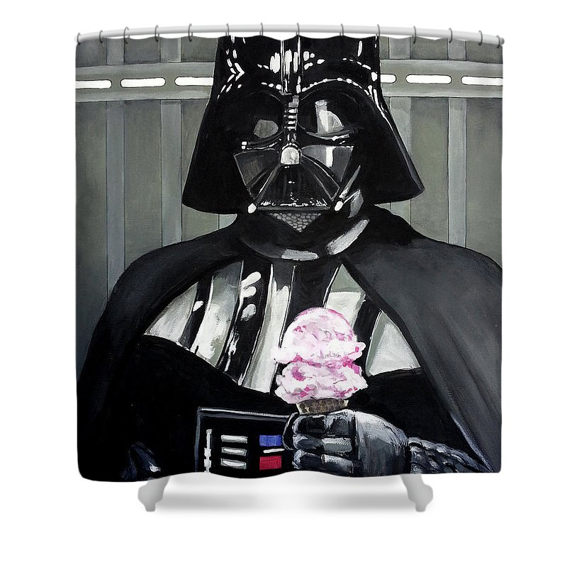 Darth Vader Shower Curtain Featuring The Painting Come To Dark Side We