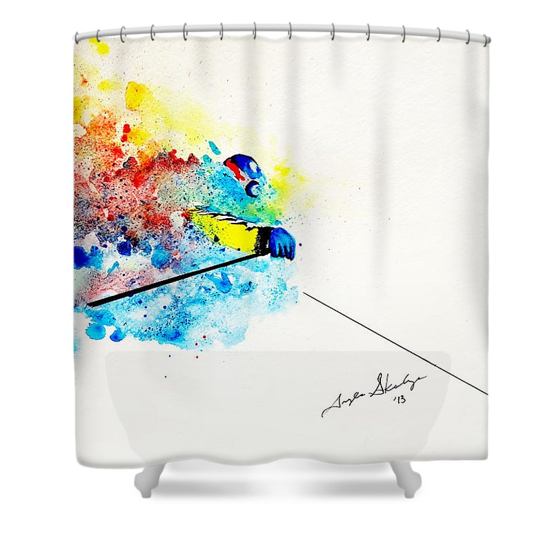 Water Skiing Shower Curtains