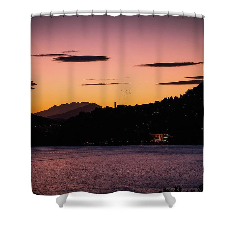 Town Shower Curtain featuring the photograph Como, Italian Lake Distric by Deimagine