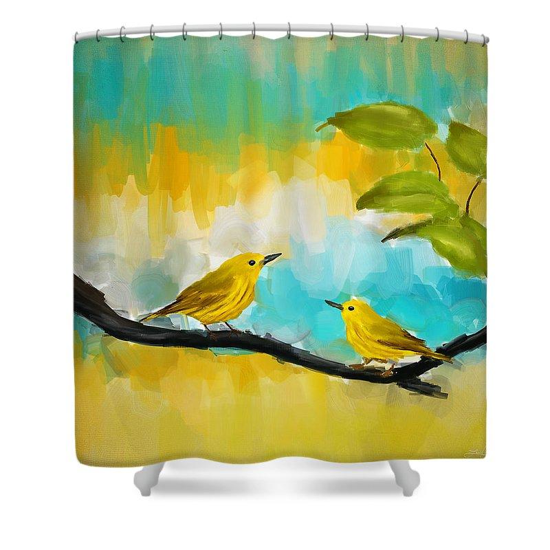 Warbler Shower Curtains