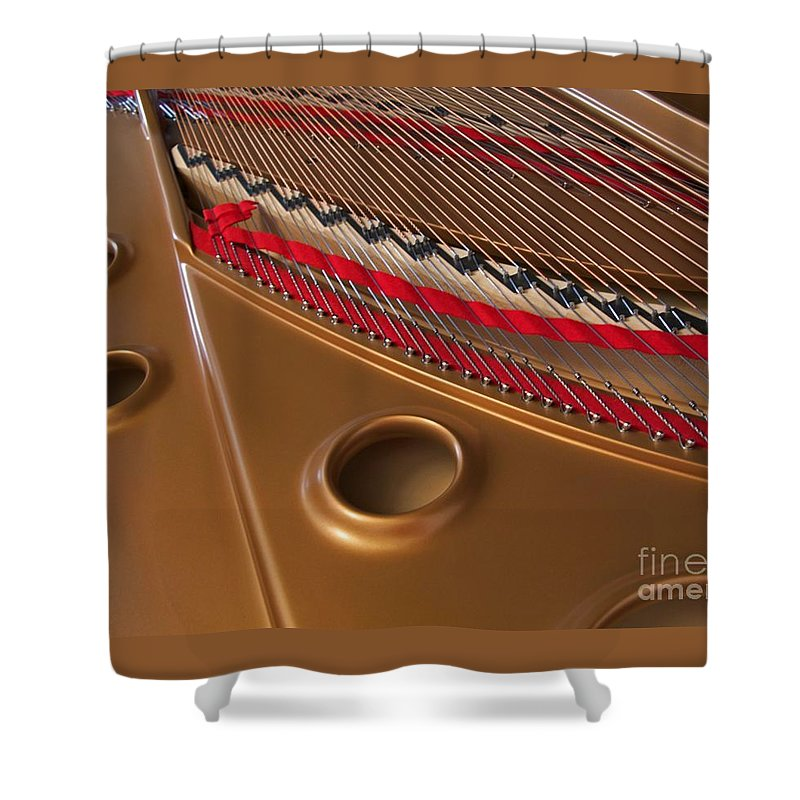 Piano Shower Curtain featuring the photograph Concert Grand by Ann Horn