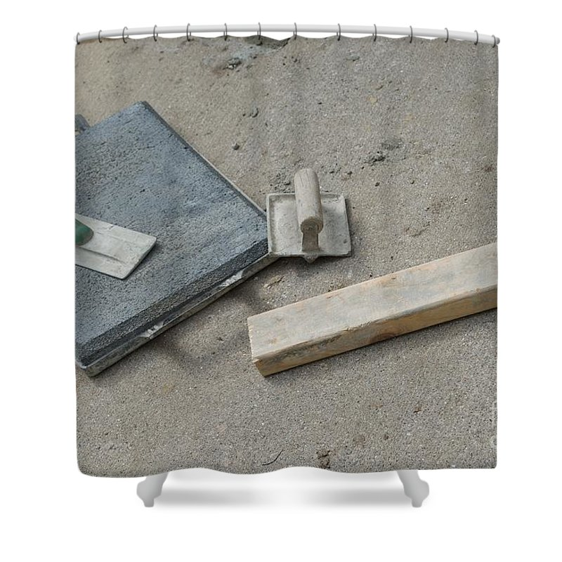 Cement Shower Curtain featuring the photograph Concrete by Joseph Yarbrough